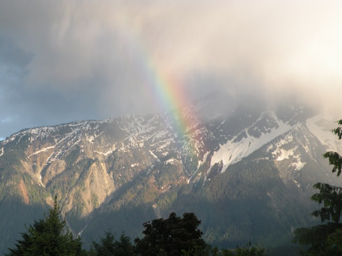 Rainbow over Mt Currie