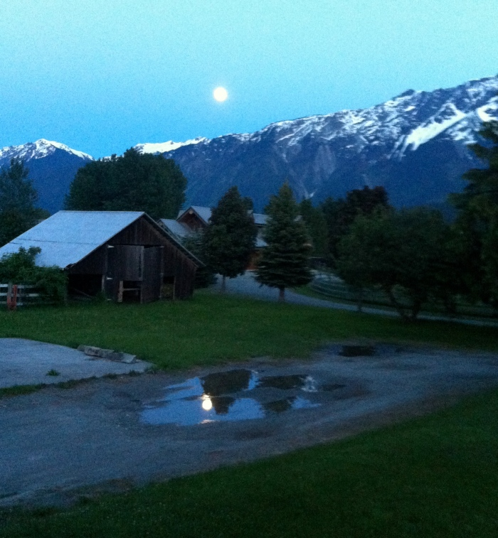 Full Moon over Mt Currie
