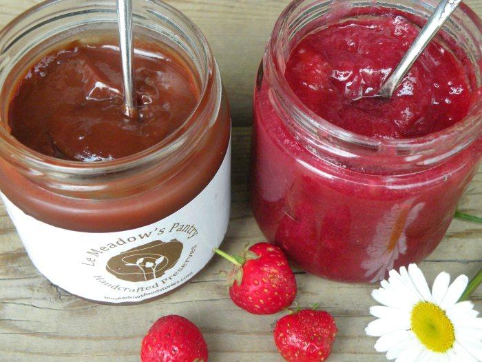 Banana chocolate Jam, Rhubarb Ginger Jam