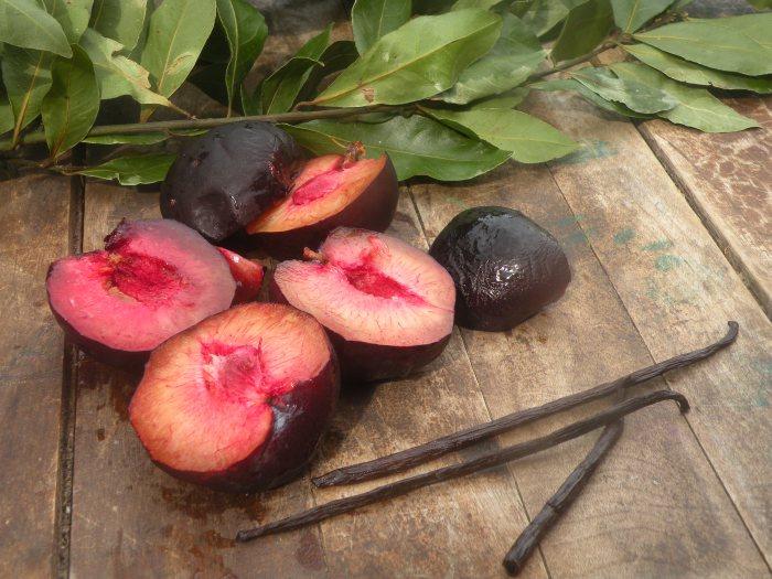 Black Plum, Fresh Bay Leaves, Vanilla and Brandy Jam....