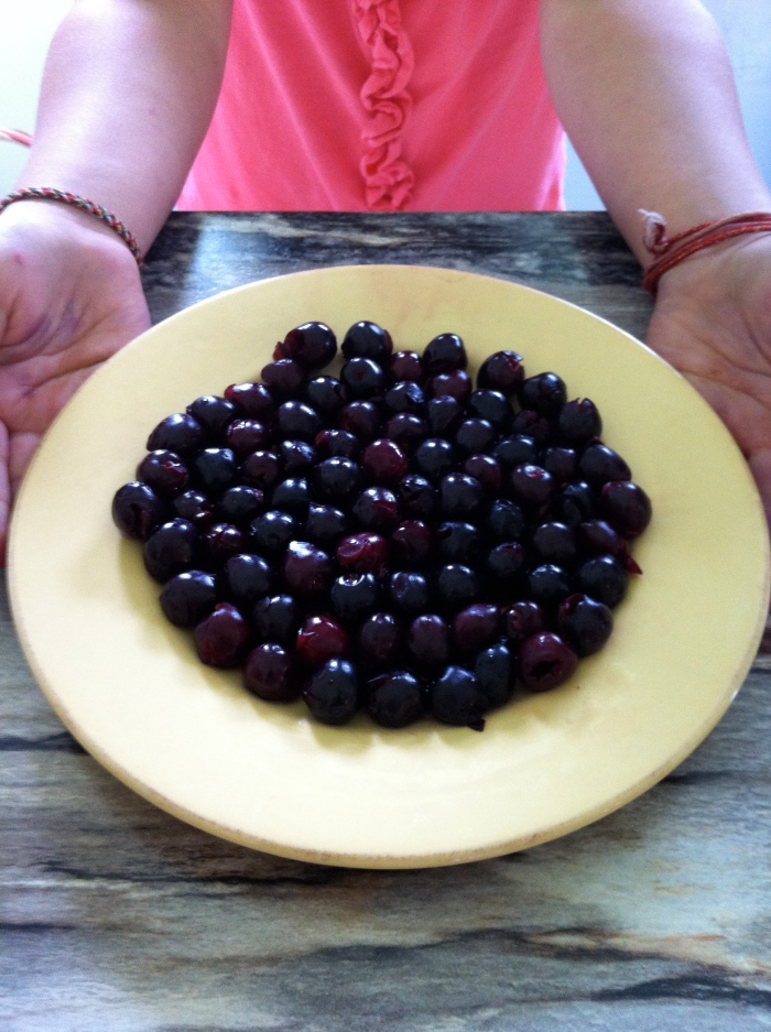Sour Cherry on a Platter