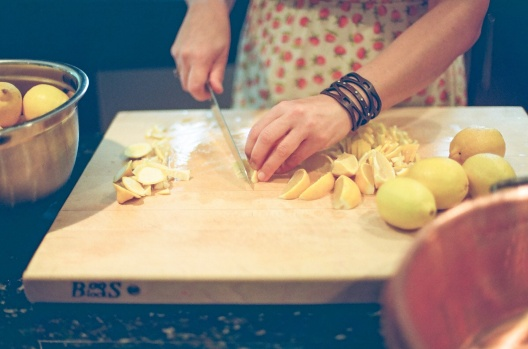 Chopping Lemons