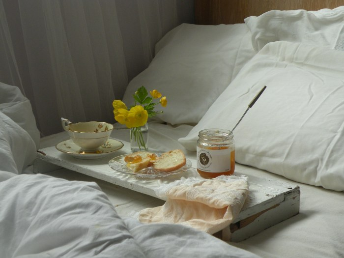 breakfast in bed at Le Meadow's