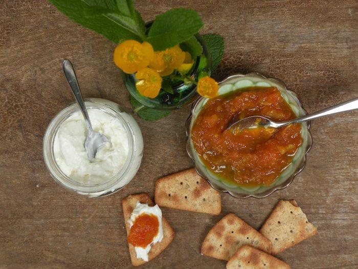 Carrot Lemon &Harissa Marmalade with Crème Fraîche